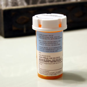 Medication Vial Showing Medication Expiration Date